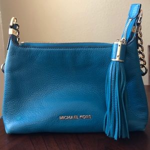 Michael Kors Tassel Leather Crossbody - Teal